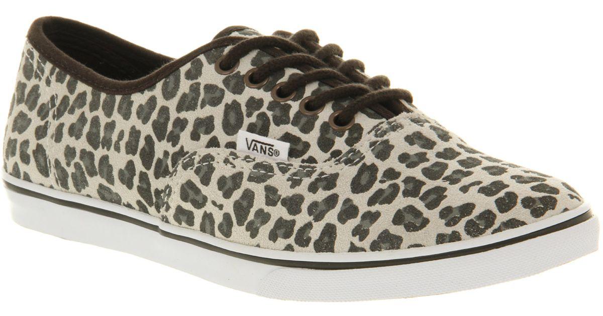 9096bb0cfc Lyst - Vans Authentic Lo Pro Leopard Suede Grey
