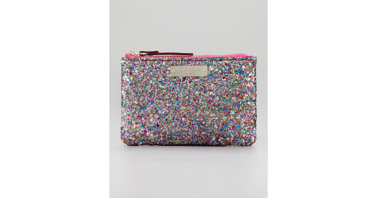 Lyst - Kate Spade Glitterball Coin Purse Bag Multi 49ce79271563