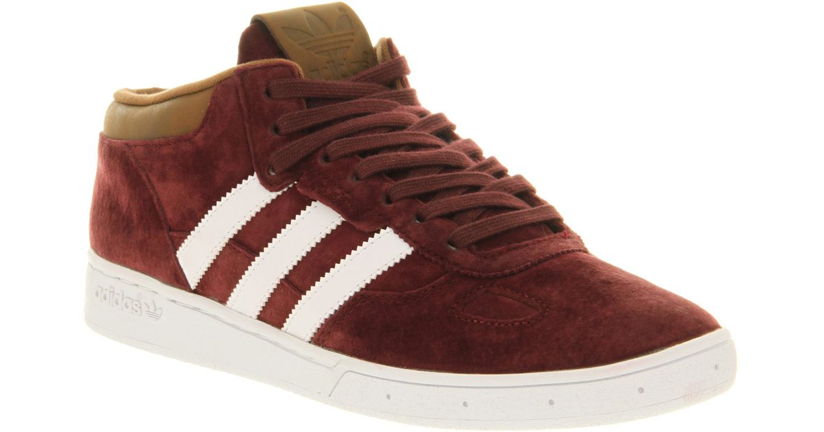 factory price 1c7cc 1b625 Lyst - adidas Ciero Mid Mars Red Brown Suede Smu in Red for