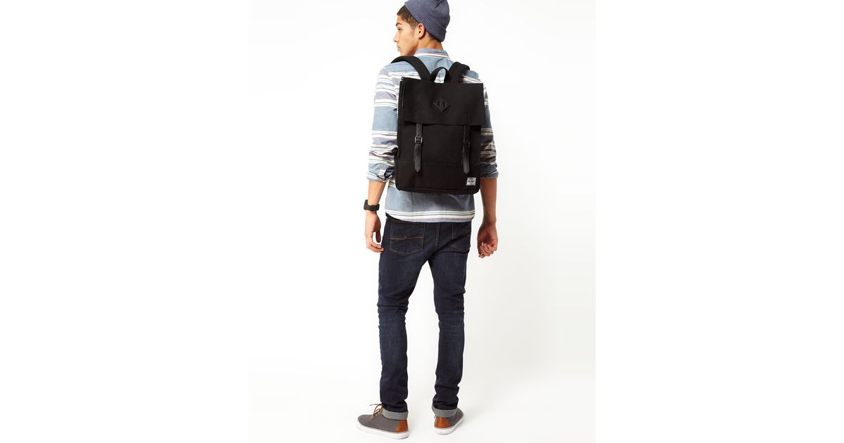5b8c2b2f797e Lyst - Herschel Supply Co. Survey Backpack in Canvas in Black for Men