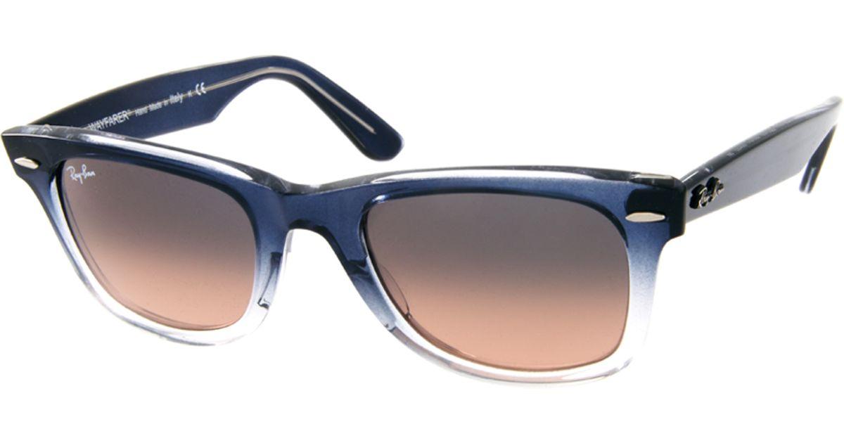 b837348e86 Lyst - Ray-Ban Wayfarer Sunglasses in Blue for Men