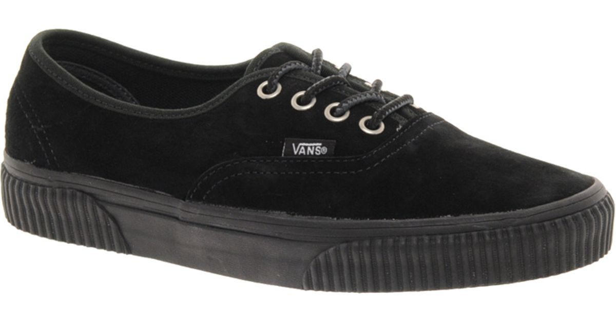 Lyst - Vans California Authentic Hiker Ca Black Lace Up Trainers in Black 09dcf48b7