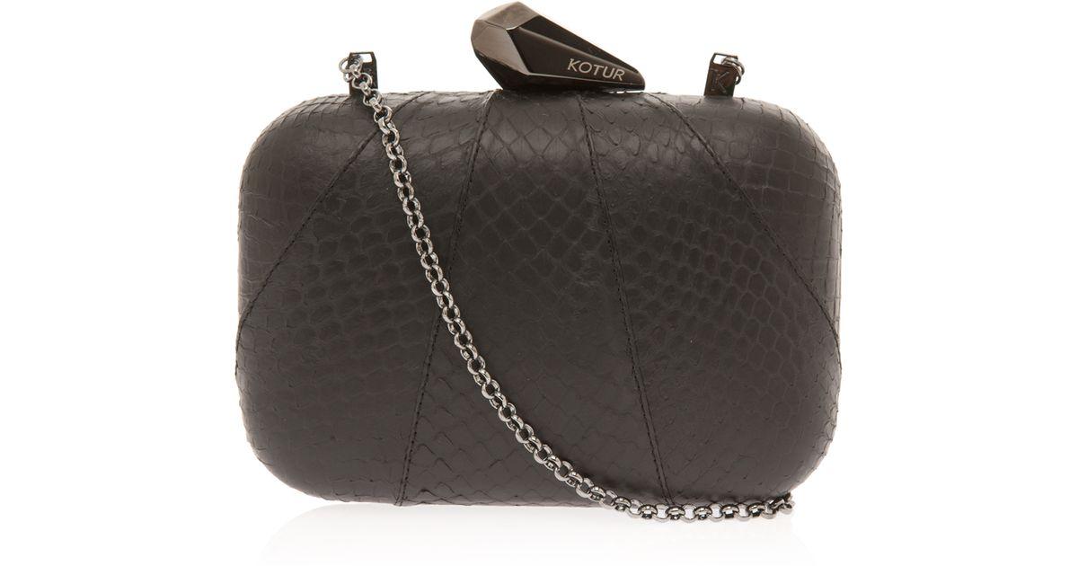 a77e8cccbc3 KOTUR Minaudiere Clutch Bag in Black - Lyst