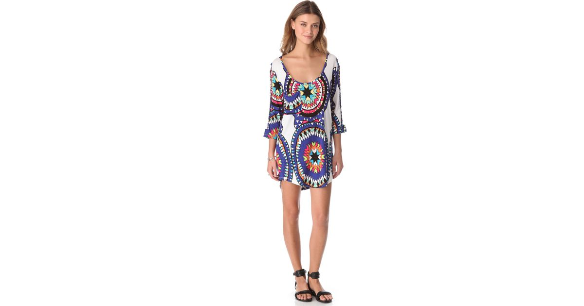 41d25ba077 Lyst - Mara Hoffman Pow Wow Easy Cover Up Dress in White