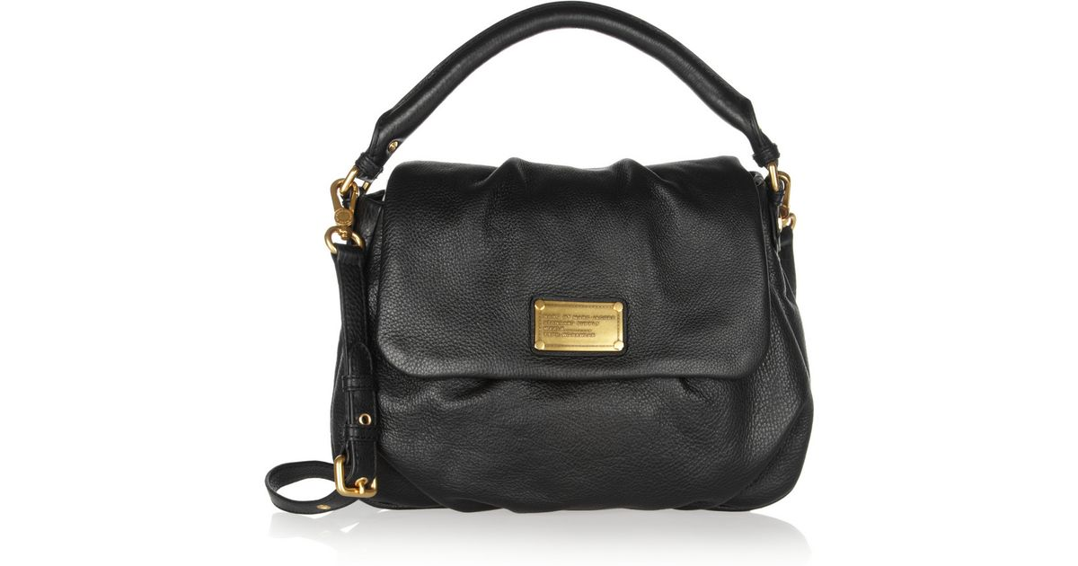 86a37787b17a41 Lyst - Marc By Marc Jacobs Classic Q Lil Ukita Textured-Leather Shoulder Bag  in Black