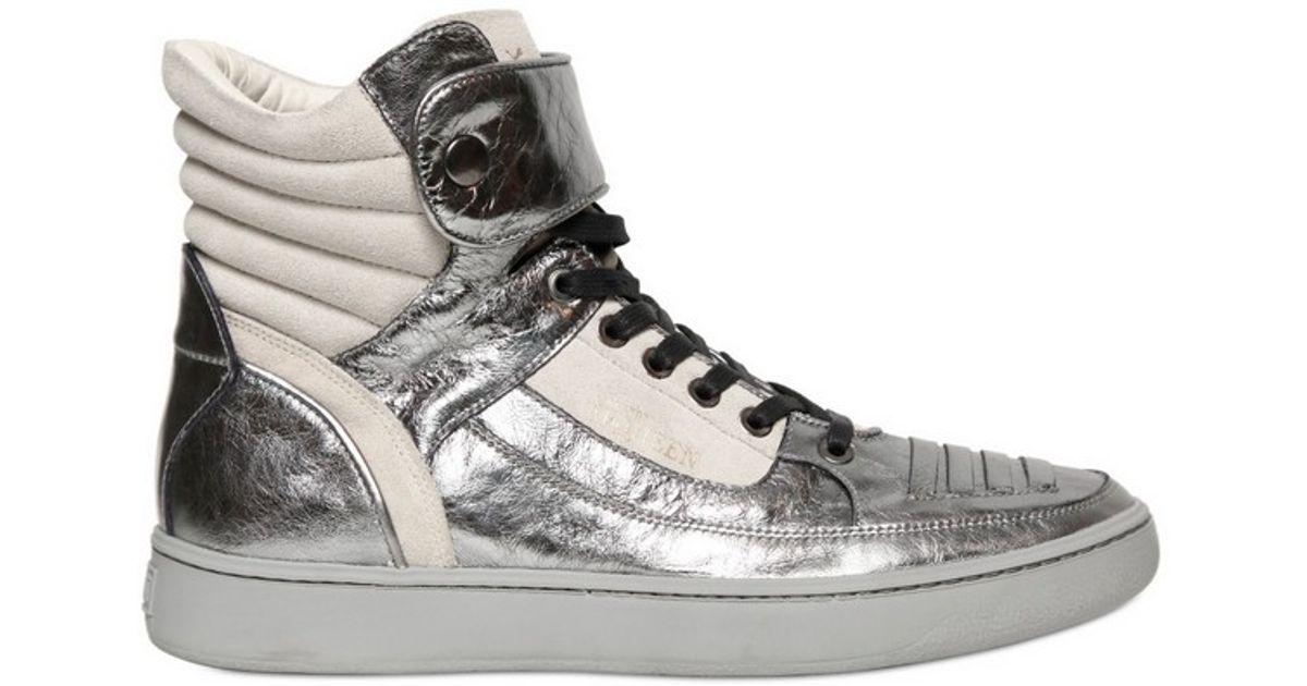 Alexander McQueen X Puma Joust Metallic Hitop Sneaker in Metallic for Men -  Lyst e6e3d9a95