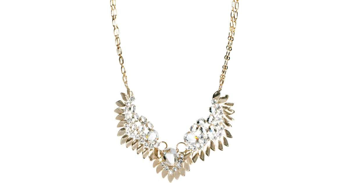 Lyst - Swarovski Angel Wing Necklace with Stones in Metallic 3c104ab71