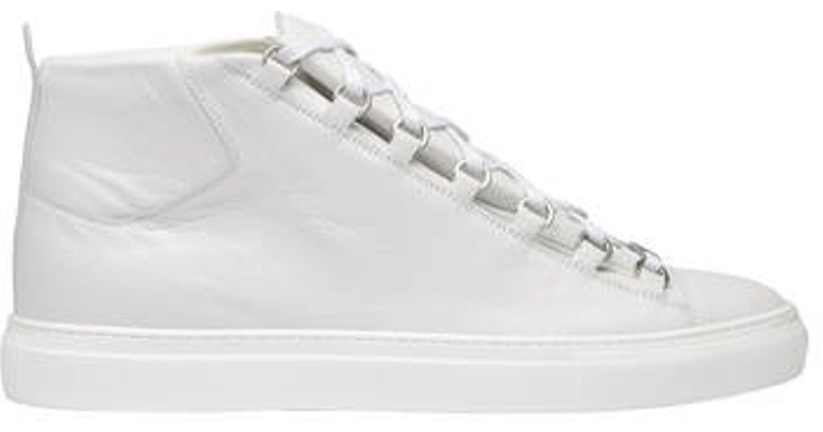 huge discount 5b441 e06bd Balenciaga Balenciaga Arena High Sneakers Extra White in White for Men -  Lyst