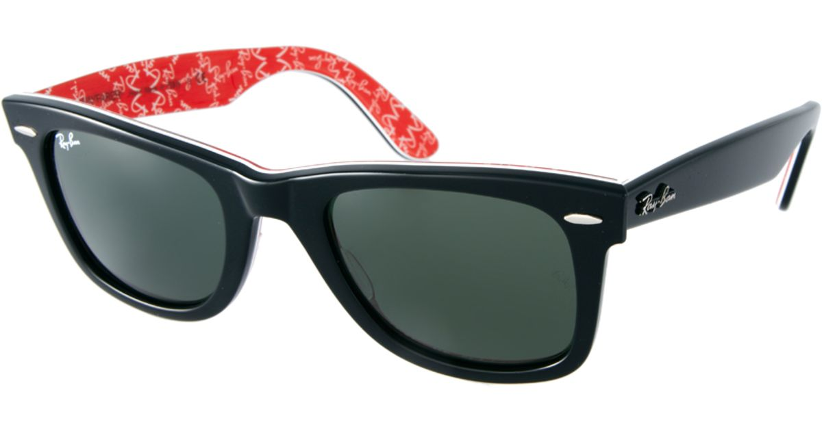 42c46a8a2d Lyst - Ray-Ban Wayfarer Sunglasses with Internal Print in Red for Men