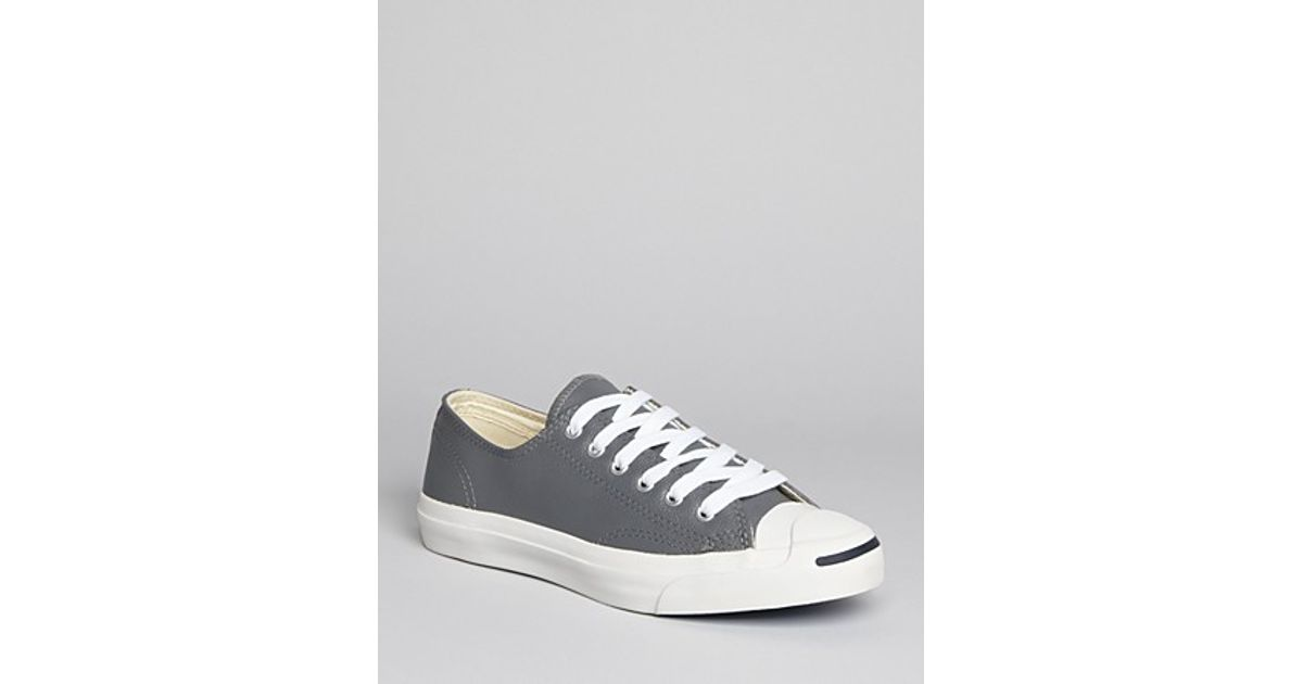 d98dd1f8e8ec18 Lyst - Converse Jack Purcell Leather Sneakers in Gray for Men