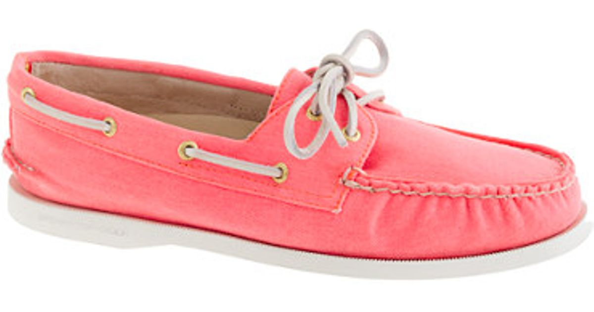 55ffd4d8e23e Lyst - J.Crew Sperry Topsider For Jcrew Authentic Original 2eye Boat Shoes  in Pastel in Pink