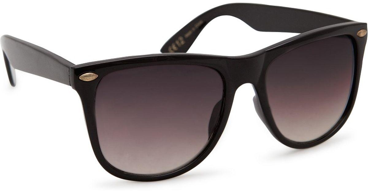 429281f8b4 Lyst - Mango Wayfarer Style Sunglasses in Black