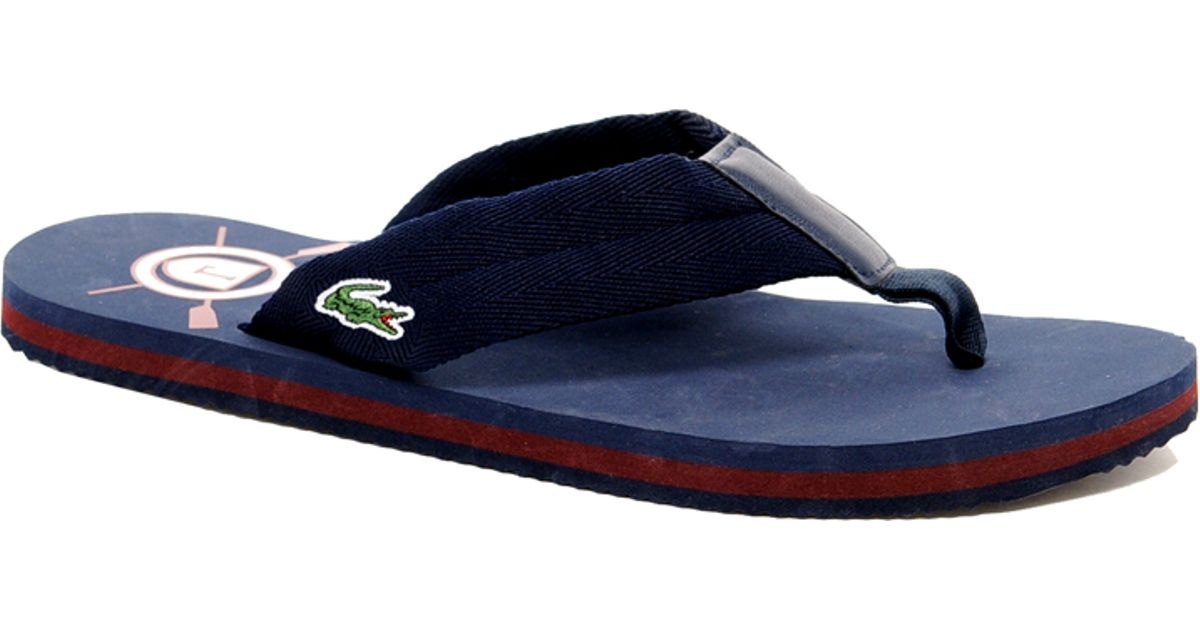 c62d89017 Lyst - Lacoste Randle Flip Flops in Black for Men
