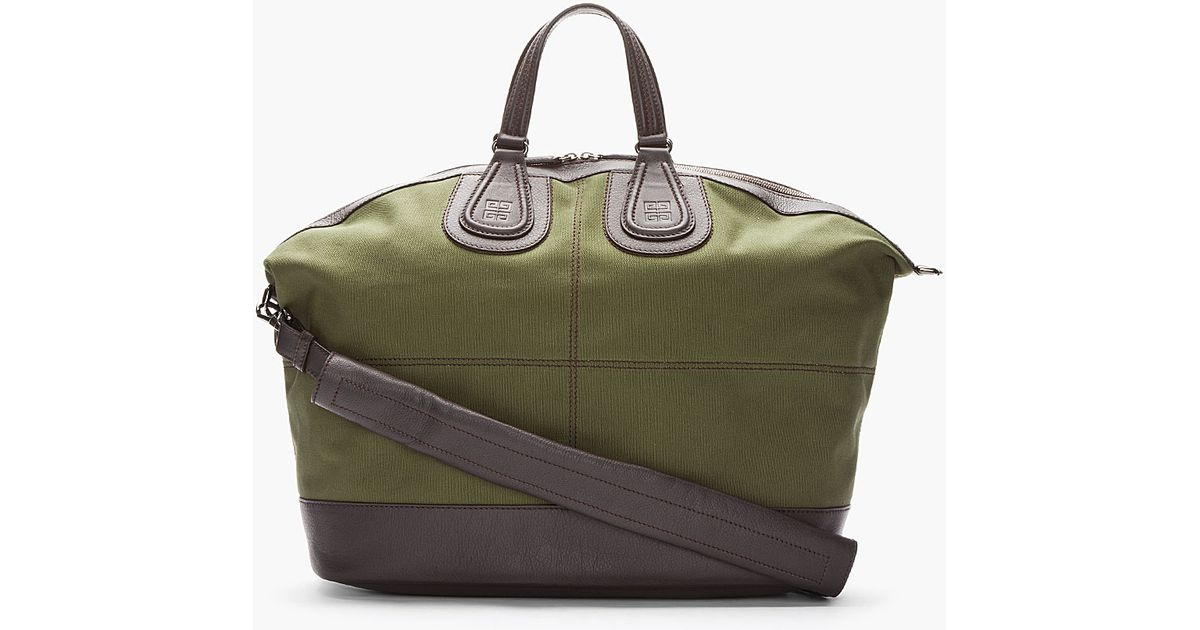 Lyst - Givenchy Leather Trimmed Nightingale Duffle Bag in Green for Men 7e791f384368d