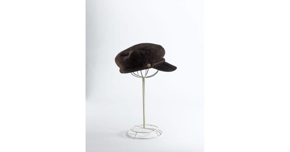 Lyst - Ugg Shearling Sheepskin Visor Hat in Brown 9ea2af9c42f4