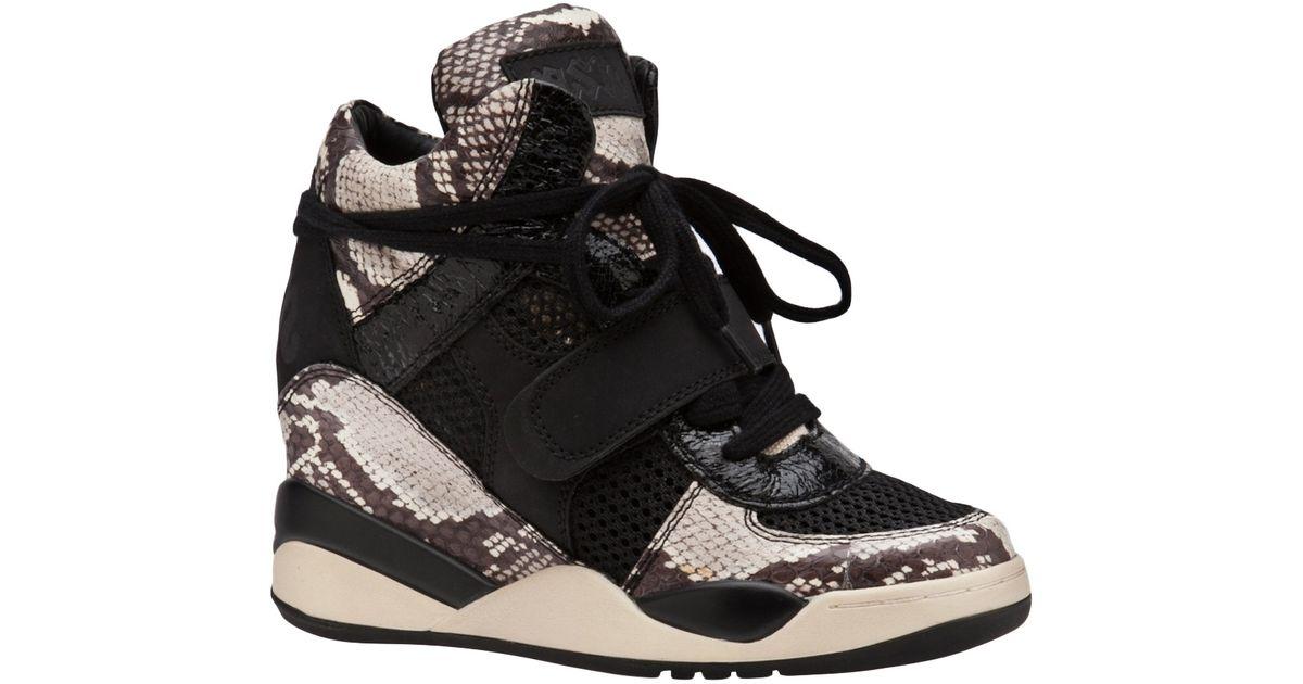 2490df4df Ash Funky Wedge Sneaker in Black - Lyst