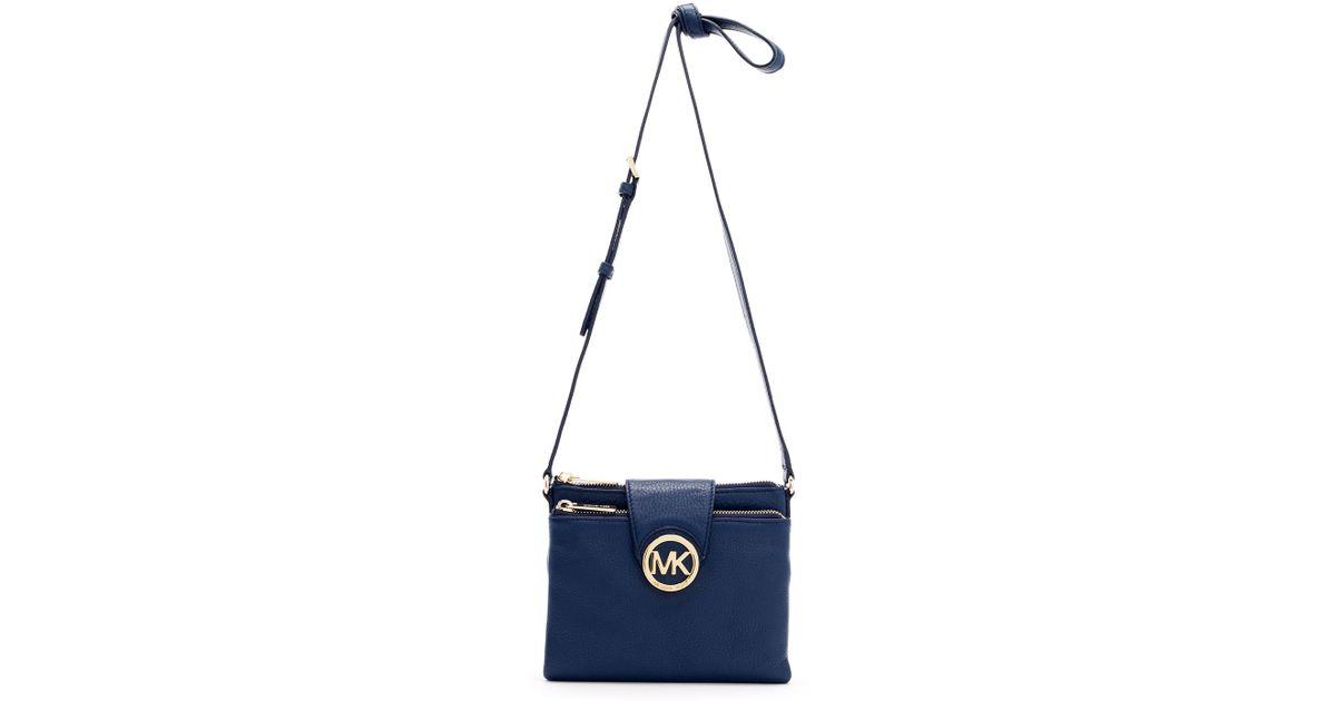 6d47ed409bf6 MICHAEL Michael Kors Large Fulton Crossbody Bag in Blue - Lyst