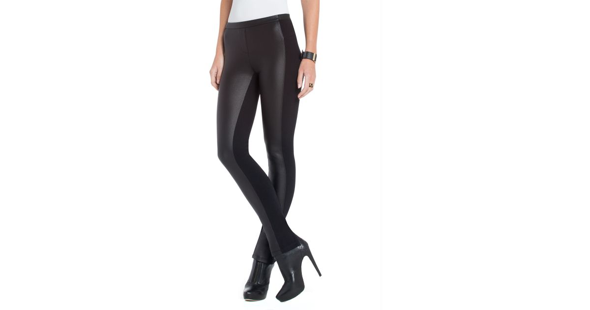 9a11ac59a3c887 BCBGMAXAZRIA Elijah Faux Leather Leggings in Black - Lyst