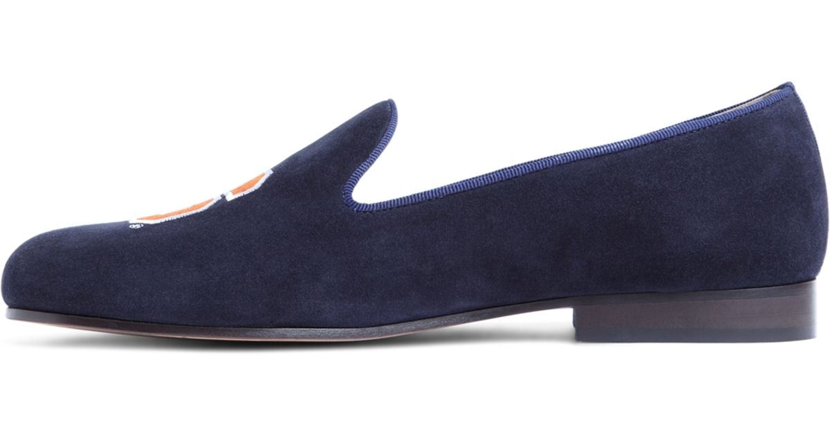 0160996d510 Lyst - Brooks Brothers Jp Crickets Auburn University Shoes in Blue for Men