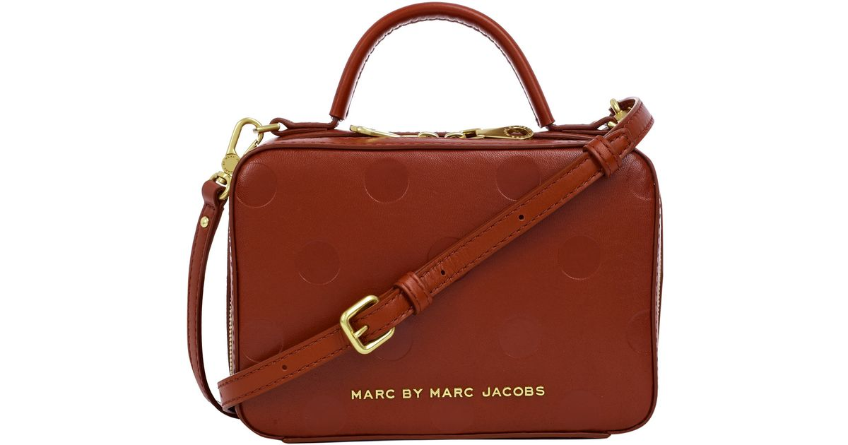 a66b9e0176 Marc By Marc Jacobs Dark Red Amaze Party Box Crossbody Bag in Red - Lyst