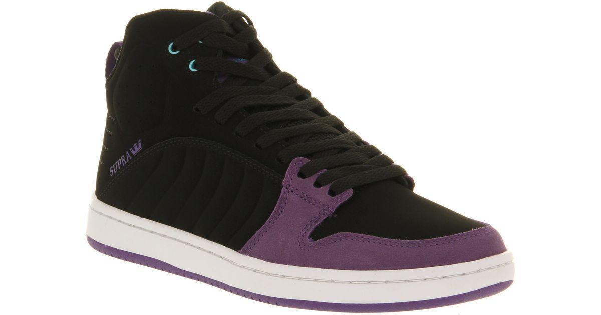 Supra S1w Black Purple Suede in Purple for Men - Lyst 0e32d3df6e