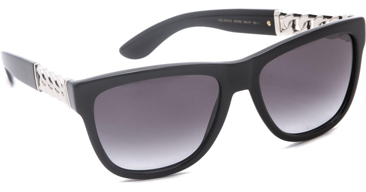f96a4285befa Saint Laurent Chain Link Sunglasses in Black - Lyst
