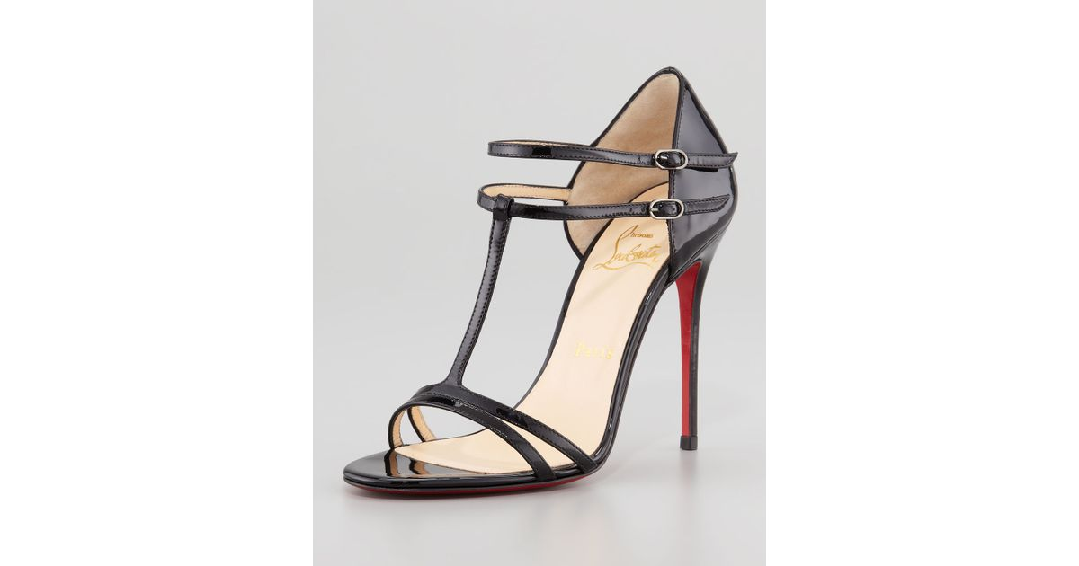 red bottom dress shoes for men - christian louboutin houla hot patent 100mm red sole sandal ...