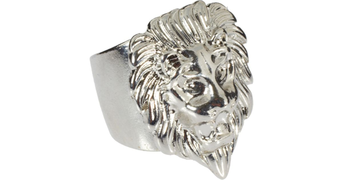 pin ellishshop ring by hippie boho lion rings head silver