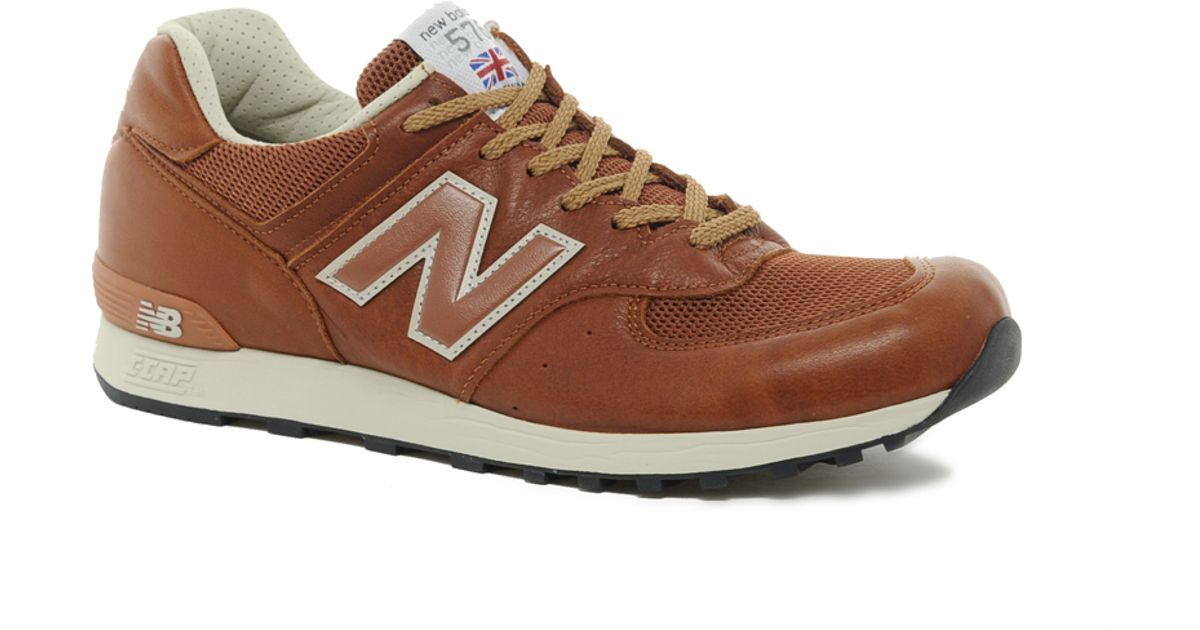 new balance 576 made in the uk brown leather trainers