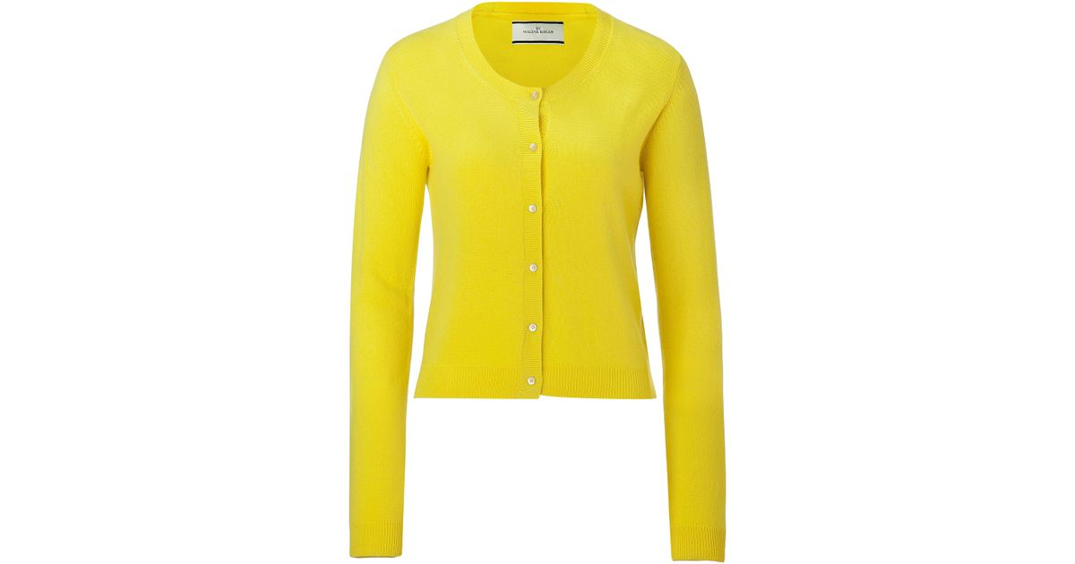 By malene birger Neon Yellow Moulda Cashmere Cardigan in Yellow | Lyst