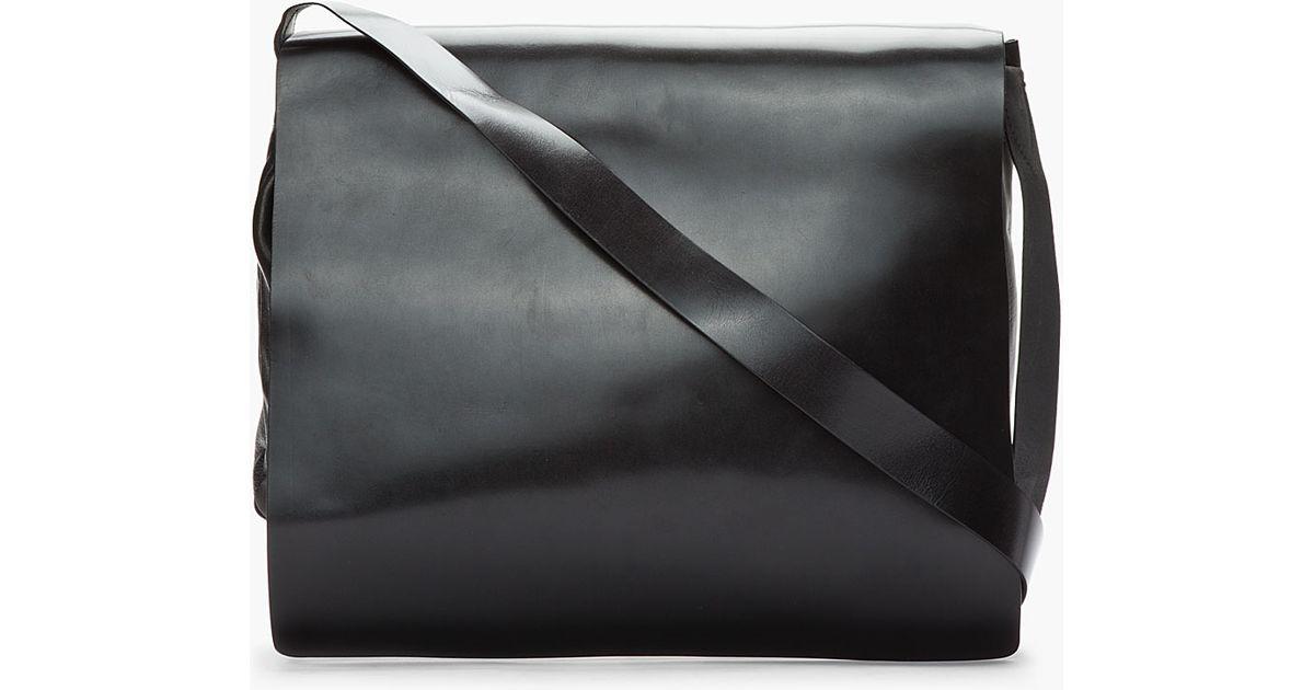 Ann demeulemeester Black Leather Alana Messenger Bag in Black for ...