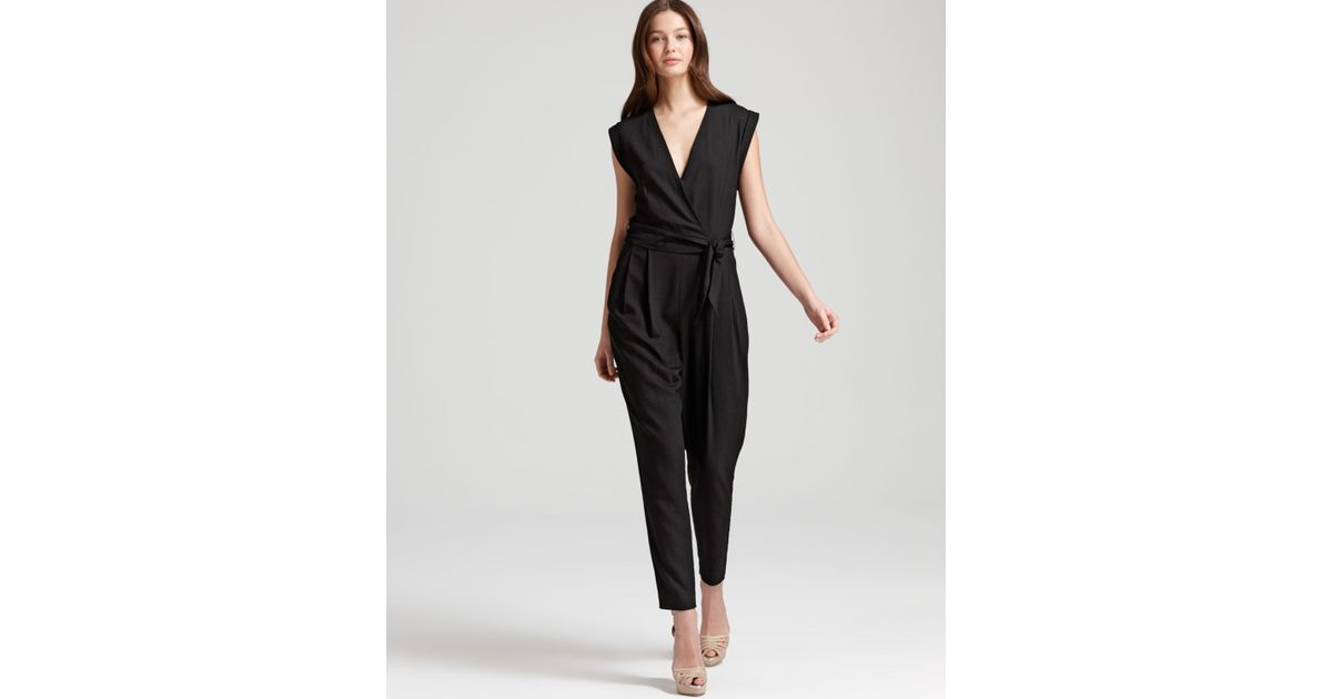 85e2670708c5 Lyst - Theory Jumpsuit Provence in Black