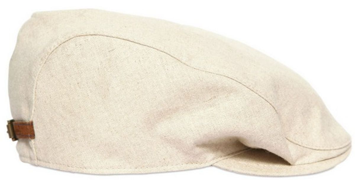 Borsalino Linen Cotton Canvas Paseyo Hat in Natural for Men - Lyst f3d106c4686a