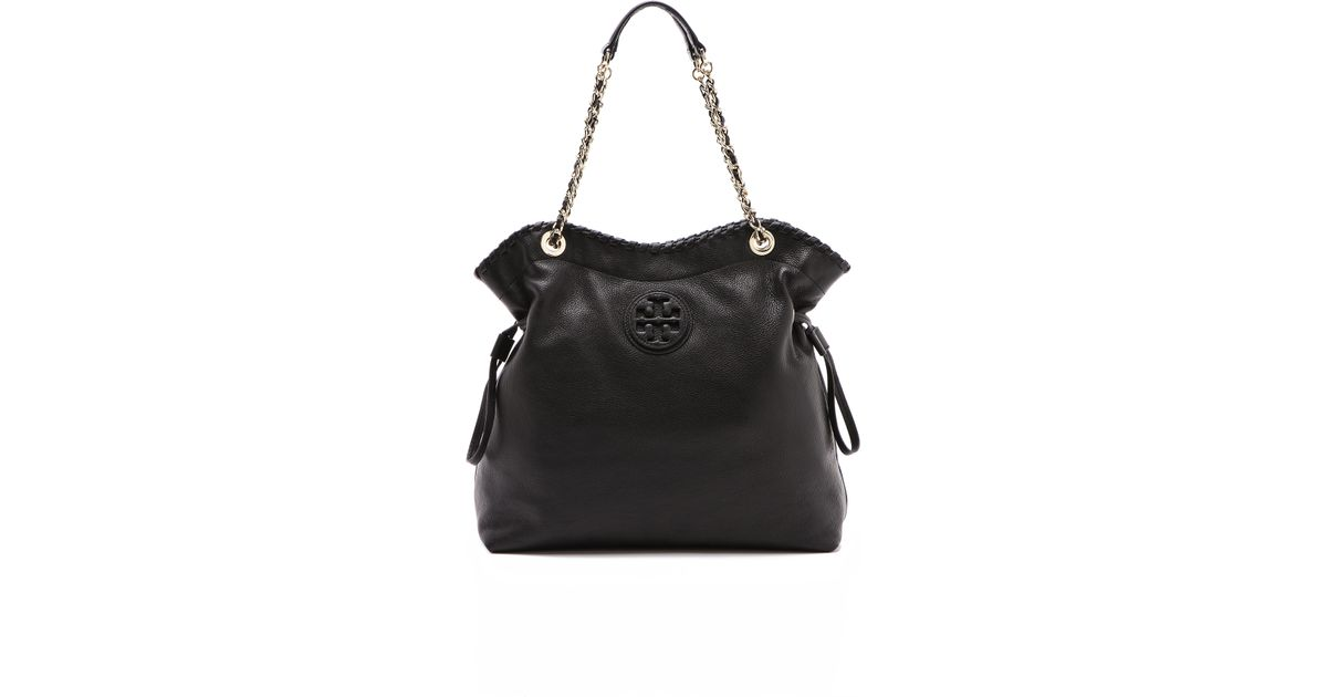 f2b445e7c8e Lyst - Tory Burch Marion Slouchy Tote in Black