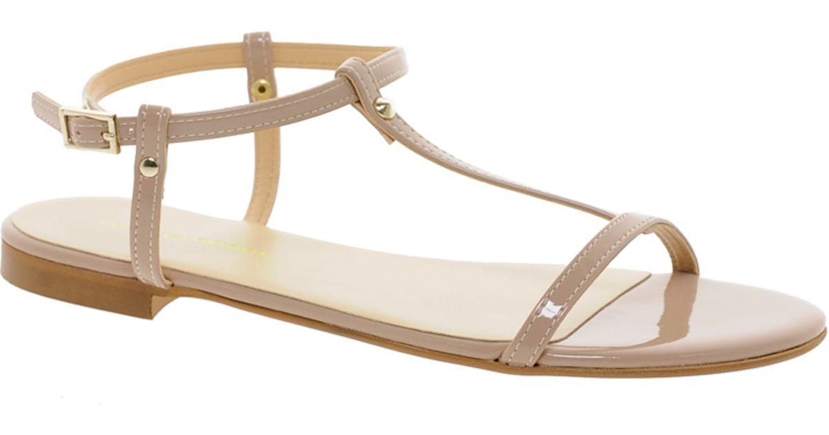 Kg Kurt Geiger Noble Embellished Sandals in Beige (nude