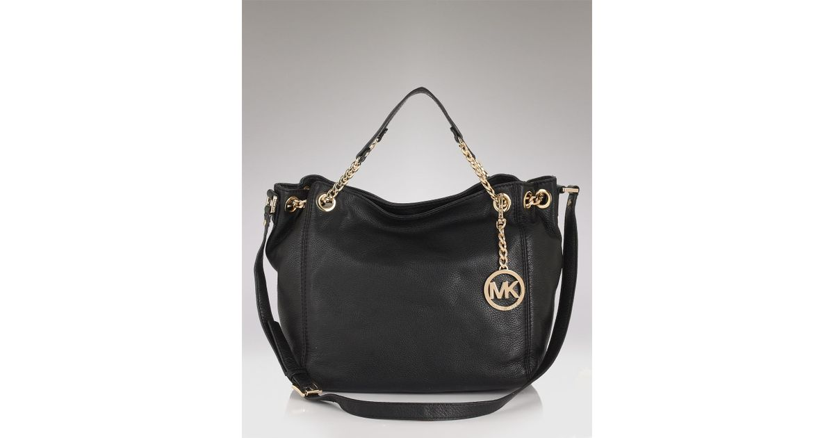 2d71b551b2a0 Lyst - MICHAEL Michael Kors Jet Set Gathered Tote in Black
