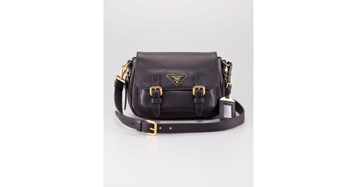 738f4948c7cba9 Prada Vitello Daino Messenger Bag in Black - Lyst