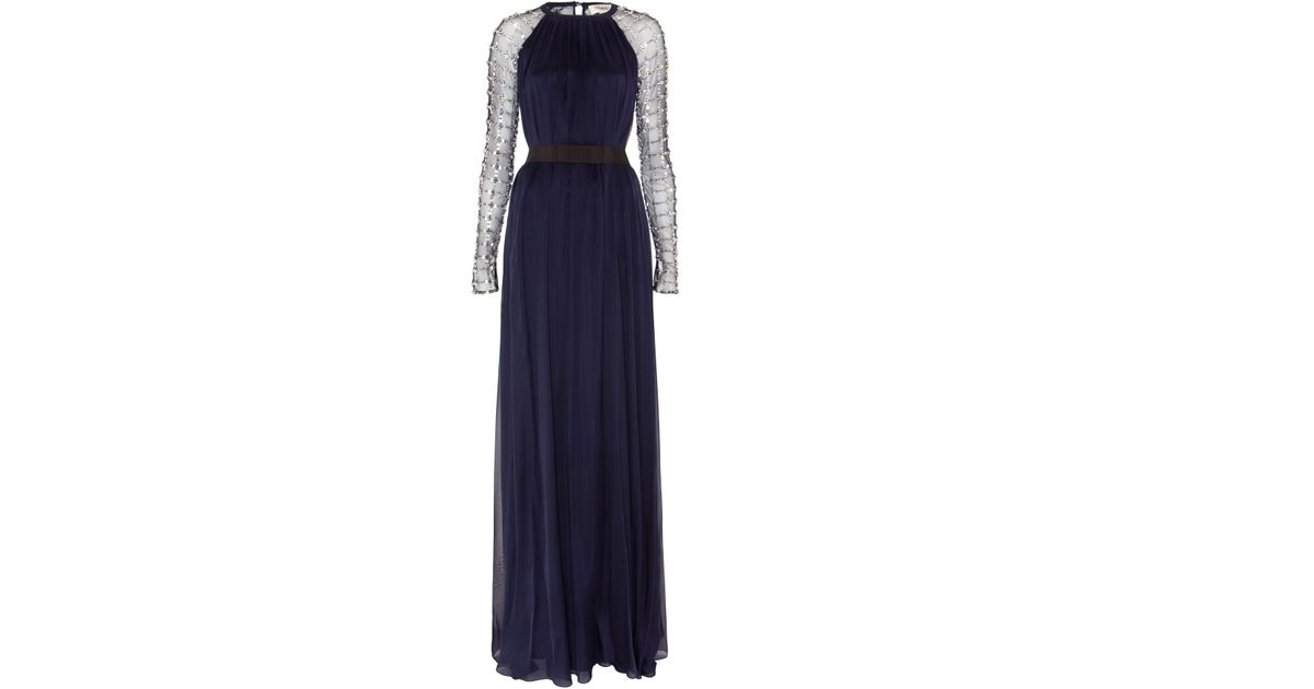 e42fbc6042d2 Lyst - Temperley London Long Angeli Lattice Dress in Blue