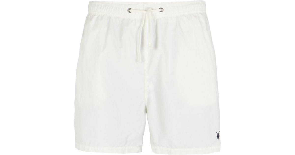 Lyst - AllSaints Regatta Swim Shorts in White for Men 21ca8f00f