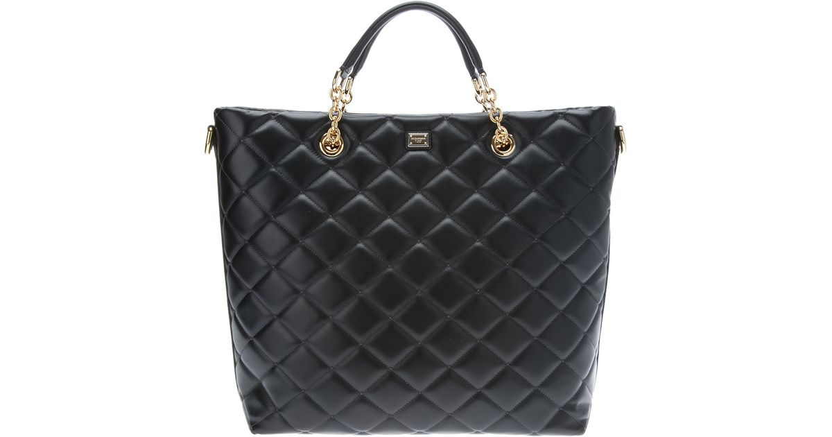 Lyst - Dolce & gabbana Quilted Tote Bag in Black : quilted bags - Adamdwight.com