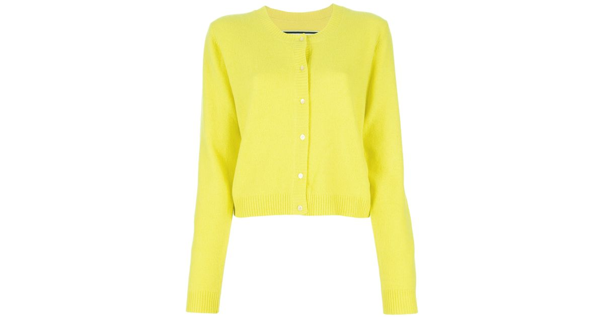 By Malene Birger Moulda Cardigan in Yellow - Lyst 1e2c12668