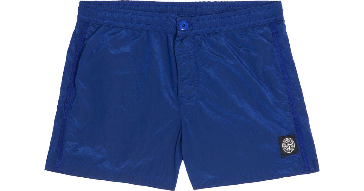 03cc7274e6 Stone Island Nylon Metal Swim Shorts in Blue for Men - Lyst