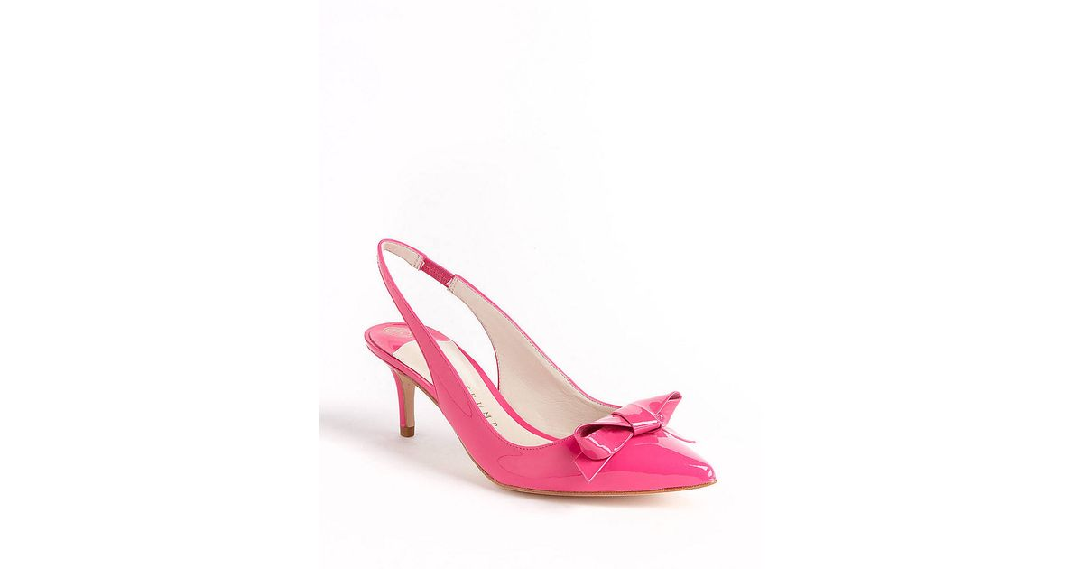 842e16a0263 Lyst - Ivanka Trump Lovely Patent Leather Slingback Pumps in Pink