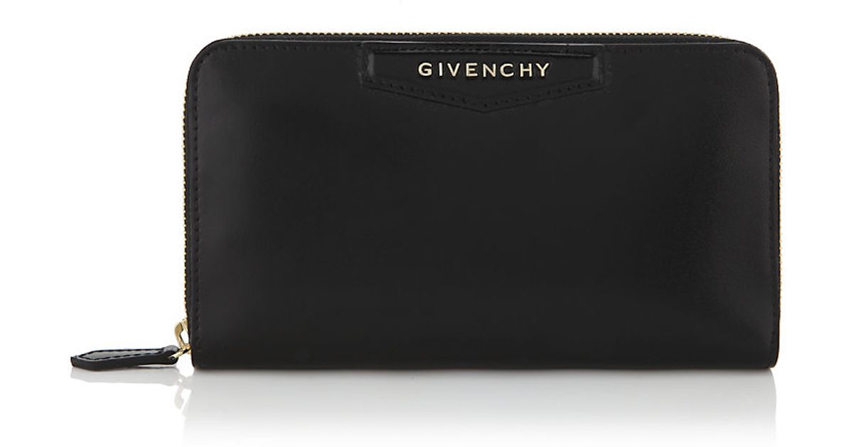 f1885b902e Givenchy Antigona Continental Wallet in Black - Lyst