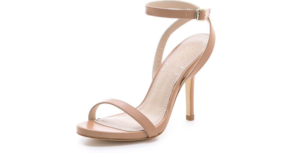 1d740a3f2a1 Lyst - Elizabeth and James Toni Slim Strappy Sandals in Natural