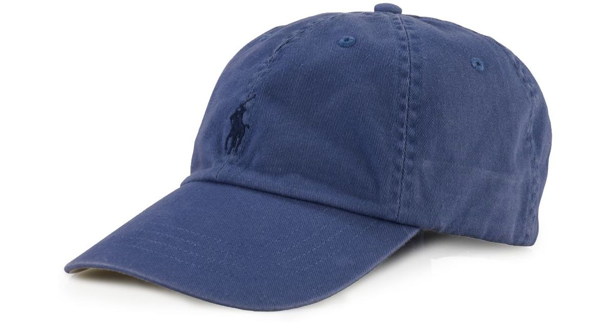 Lyst - Ralph Lauren Polo Signature Pony Hat in Blue for Men 6c3e397a46a