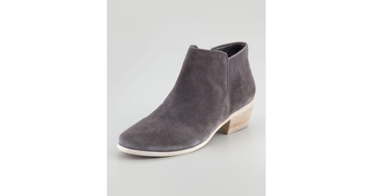 a718397e9a46 Sam Edelman Petty Suede Ankle Boot in Gray - Lyst