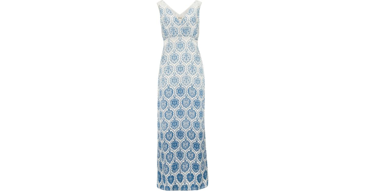 Nice Alice Blue Gown Print Collection - Long Formal Dresses Evening ...