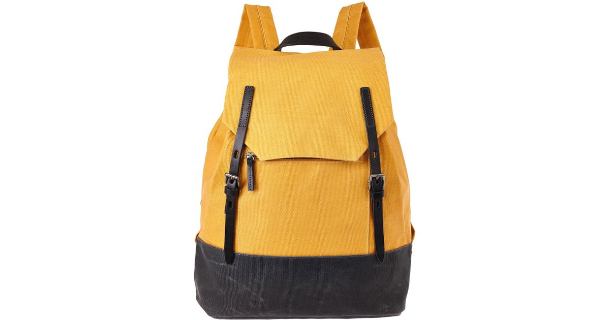 Lyst - Ally Capellino Mustard Dean Waxed Canvas Backpack in Yellow for Men d0250ba4ba