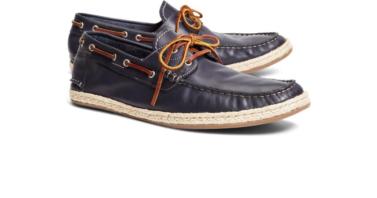 835f8db1ec8 Lyst - Brooks Brothers Espadrille Boat Shoe in Blue for Men